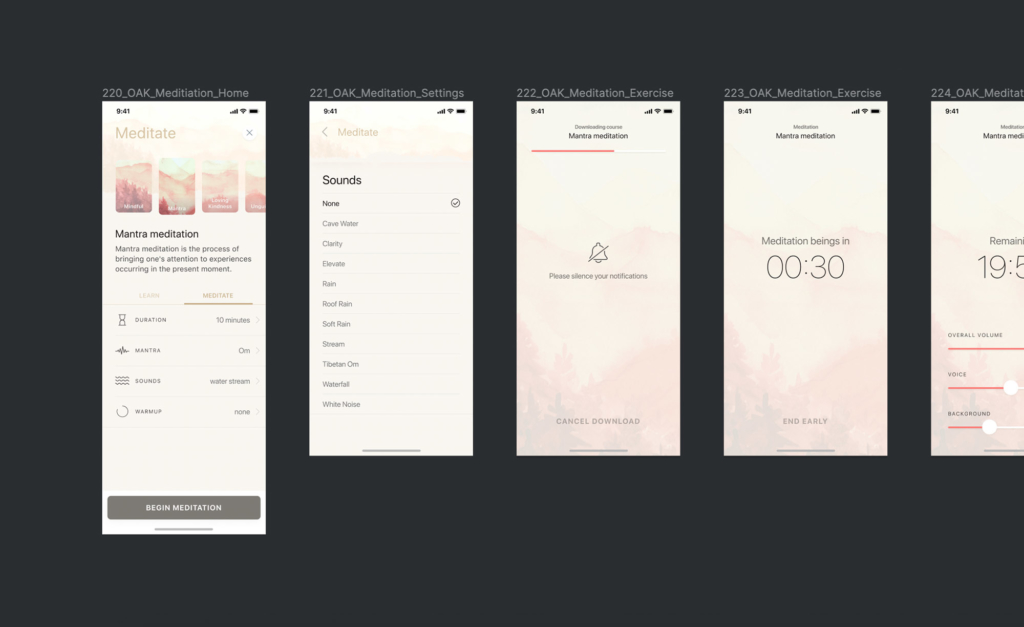 Oak's Interface Design